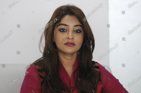 Bollywood actor Payal Ghosh during a media interaction at Sector 63 on October 7, 2020 in Noida, India. Payal Ghosh met Union Minister of State for Home G Kishan Reddy and sought speedy justice, in the wake of her allegation of sexual misconduct against filmmaker Anurag Kashyap.