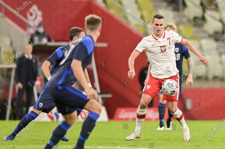 Arkadiusz Milik of Poland seen in action during a football friendly match between Poland and Finland at the Energa Stadium in Gdansk. (Final score; Poland 5:1 Finland)