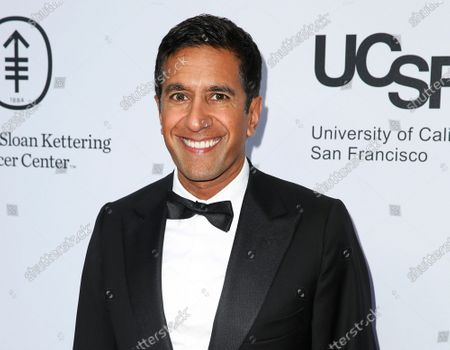Sanjay Gupta arrives at Sean Parker and the Parker Foundation's Gala Celebrating a Milestone in Medical Research in Los Angeles. on