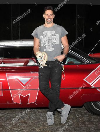 Joe Manganiello and dog Bubbles