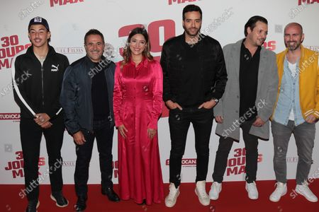 Stock Image of Just Riadh, Jose Garcia, Vanessa Guide, Tarek Boudali, a guest and Julien Arruti