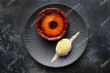 Pineapple Tarte Tatin with No Churn Coconut Ice Cream