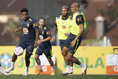 Rodrigo and Fabinho of Brazil during training session; Granja Comary, Teresopolis, Rio de Janeiro, Brazil; Qatar 2022 qualifiers.