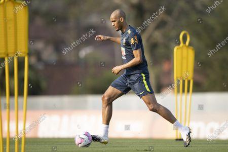Fabinho of Brazil during training session; Granja Comary, Teresopolis, Rio de Janeiro, Brazil; Qatar 2022 qualifiers.