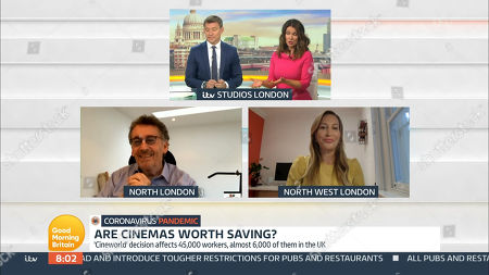 Editorial image of 'Good Morning Britain' TV Show, London, UK - 08 Oct 2020