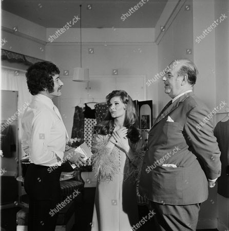 Stock Picture of Peter Wyngarde as Jason King, Adrienne Corri as Monique and Eric Pohlmann as Emilio Andre