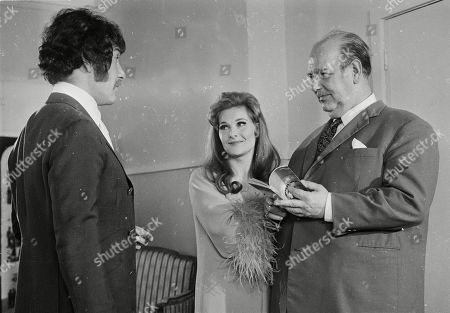 Peter Wyngarde as Jason King, Adrienne Corri as Monique and Eric Pohlmann as Emilio Andre