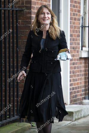 Downing Street Press Secretary Allegra Stratton departs Downing Street .Photo credit: George Cracknell Wright/LNP
