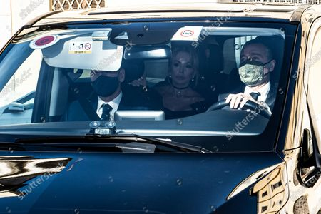 Arrival of Marina Berlusconi at the wedding