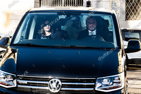 The arrival of the bride Federica Fumagalli in the Van