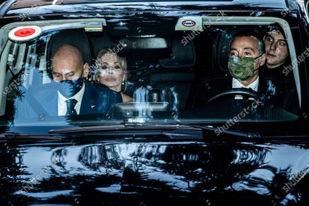 The arrival of Marina Berlusconi at the wedding