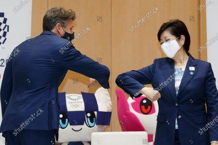 World Athletics President Lord Sebastian Coe and Yuriko Koike