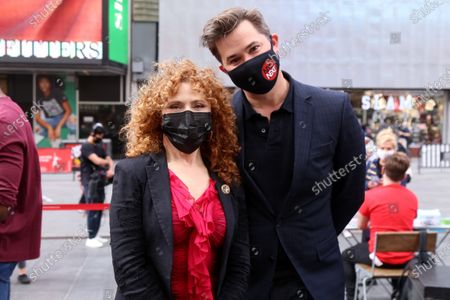 Stock Image of Bernadette Peters and Andrew Rannells during 'A Moment For Broadway', first event in a series for volunteer organization NYC