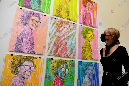 Who's tha Girl? By Evans Mbugua, at the 1-54 Contemporary African Art Fair, the only art fair taking place physically during Frieze Week, at Somerset House.