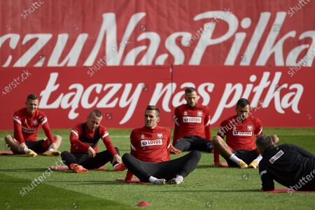 Editorial image of Polish national soccer team training session, Sopot, Poland - 08 Oct 2020