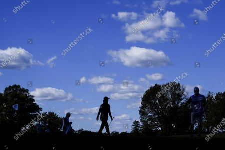 Laura Davies, of England, walks to the sixth hole during the first round of the KPMG Women's PGA Championship golf tournament at the Aronimink Golf Club, in Newtown Square, Pa
