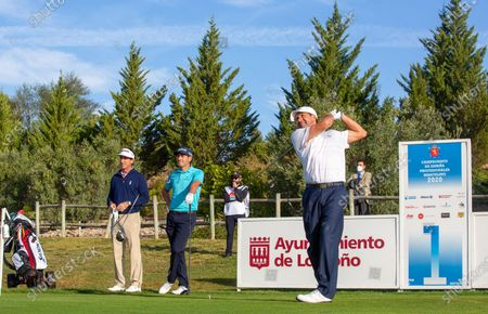 Spanish player Jose Maria Olazabal (R) during the Spanish golf Championship held at La Grajera, in Logrono, Spain, 08 October 2020. Spanish golf Championship will be held from 08 to 11 October.