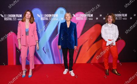 Stock Photo of Sharon Horgan, Phyllida Lloyd and Tricia Tuttle, Festivals Director, British Film Institute