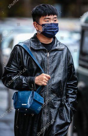 Editorial image of Street Style, Spring Summer 2021, Milan Fashion Week, Italy - 24 Sep 2020