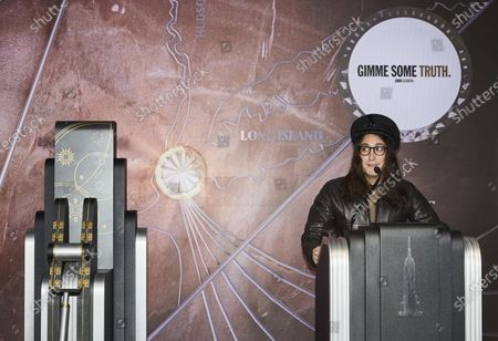 Sean Lennon at the lighting ceremony of the Empire State building on Thursday, in New York City