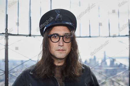 Sean Ono Lennon poses for a portrait on the observation deck of the Empire State building, in New York to promote an album being released of his father's best known songs