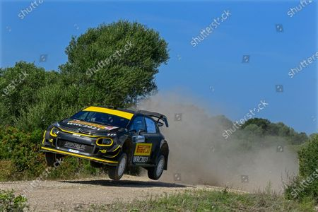Stock Picture of Petter Solberg of Sweden drives his Citroen C3 WRC during the shakedown