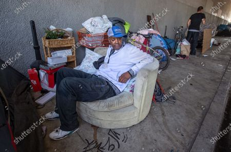 Editorial picture of Homeless in the West Valley, Woodland Hills, California, United States - 07 Oct 2020