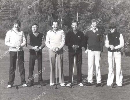 Cliff Thorburn, Alex Higgins, Ray Reardon, John Spencer, Steve Davis and Kirk Stevens