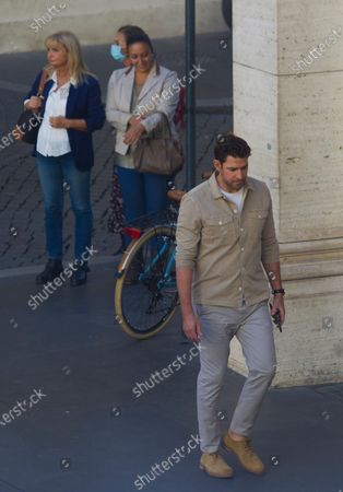 Editorial photo of 'Jack Ryan' TV show filming, Rome, Italy - 08 Oct 2020