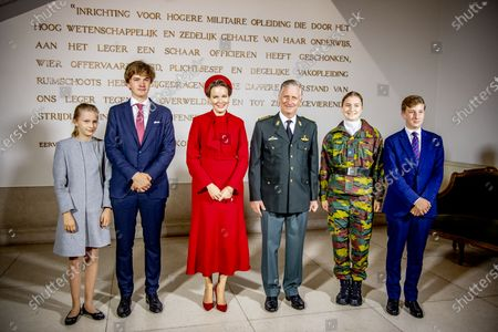 King Philippe and Queen Mathilde with their children Princess Elisabeth, Prince Gabriel, Prince Emmanuel and Princess Eleonore