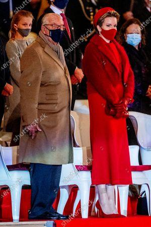 Queen Mathilde with Former King Albert II
