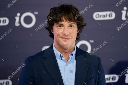Stock Image of Spanish chef Jordi Cruz presents iO by Oral-B at the Kitchen club in Madrid.