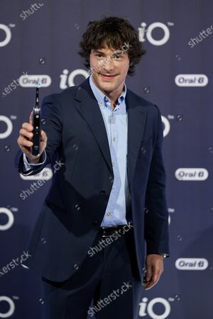 Stock Picture of Spanish chef Jordi Cruz presents iO by Oral-B at the Kitchen club in Madrid.