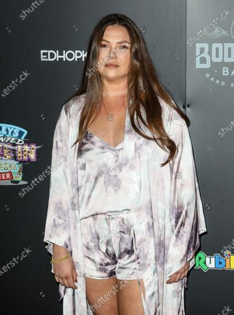 Stock Picture of Francesca Parman attend the Press Night for the Tulleys Farm Haunted Drive-In Cinema.