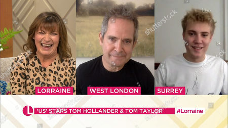 Lorraine Kelly, Tom Hollander and Tom Taylor