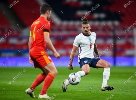 Kalvin Phillips of England and Ben Davies of Wales
