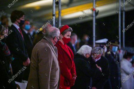 Queen Mathilde of Belgium, Their Majesties King Albert II and Queen Paola.