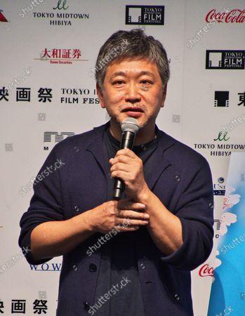 Director Hirokazu Kore-eda attends the press conference for the Tokyo International Film Festival 2020 in Tokyo, Japan.
