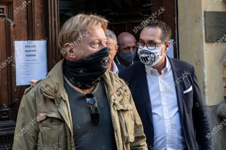 Heinz-Christian Strache, leader of Team HC Strache party, wearing a protective face mask leaves a polling station after casting his absentee vote for the Vienna municipal and regional elections in Vienna, Austria, 09 October 2020. Former Austrian Vice Chancellor Heinz-Christian Strache performs with his Team HC Strache party in the upcoming Vienna municipal and regional elections, which will take place on 11 October 2020.