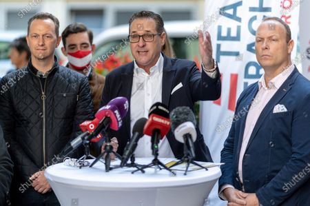 Editorial picture of Heinz-Christian Strache casts his vote for Sunday's municipal and regional elections in Vienna, Austria - 09 Oct 2020
