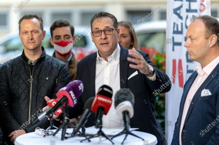 Editorial photo of Heinz-Christian Strache casts his vote for Sunday's municipal and regional elections in Vienna, Austria - 09 Oct 2020