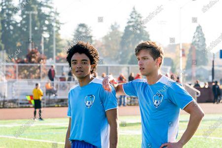 Odiseas Georgiadis as Noah Simos and Brandon Butler as Brady Finch