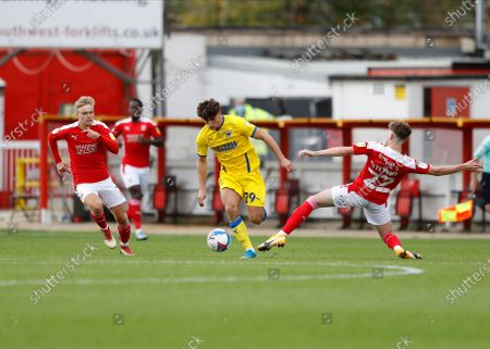 Editorial picture of Swindon Town v AFC Wimbledon, FL Sky Bet League One, Football, The County Ground, Swindon, UK - 10 Oct 2020