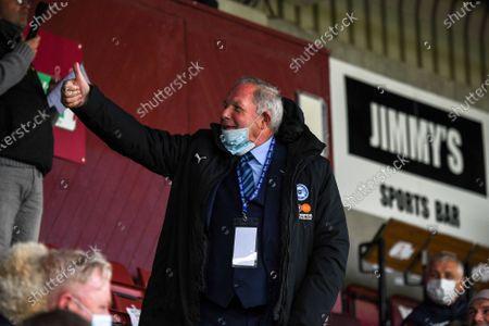 Stock Photo of Barry Fry Peterborough Director of Football; Sixfields Stadium, Northampton, East Midlands, England; English Football League One, Northampton Town versus Peterborough United.
