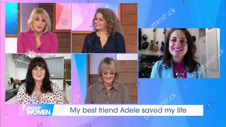 Stock Image of Kaye Adams, Nadia Sawalha, Coleen Nolan, Jane Moore and Laura Dockrill