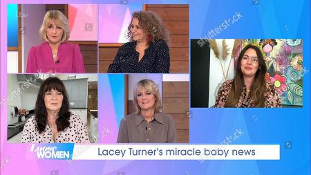 Kaye Adams, Nadia Sawalha, Coleen Nolan, Jane Moore and Lacey Turner