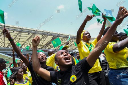 Editorial photo of Chama Cha Mapinduzi ruling party presidential election rally, Dar Es Salaam, Tanzania - 09 Oct 2020