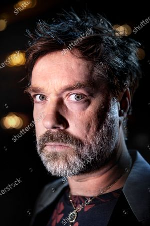 """Stock Image of Singer and musician Rufus Wainwright photographed before the premiere of his opera """"Prima Donna"""" at the Royal Opera in Stockholm, Sweden"""
