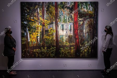 Stock Image of Peter Doig, Boiler House, 1993, Estimate on Request - Christie's London preview of Post-War and Contemporary Art Evening Sale London which takes place on 22 October 2020.