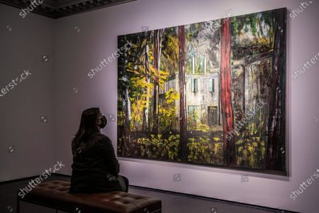 Stock Photo of Peter Doig, Boiler House, 1993, Estimate on Request - Christie's London preview of Post-War and Contemporary Art Evening Sale London which takes place on 22 October 2020.